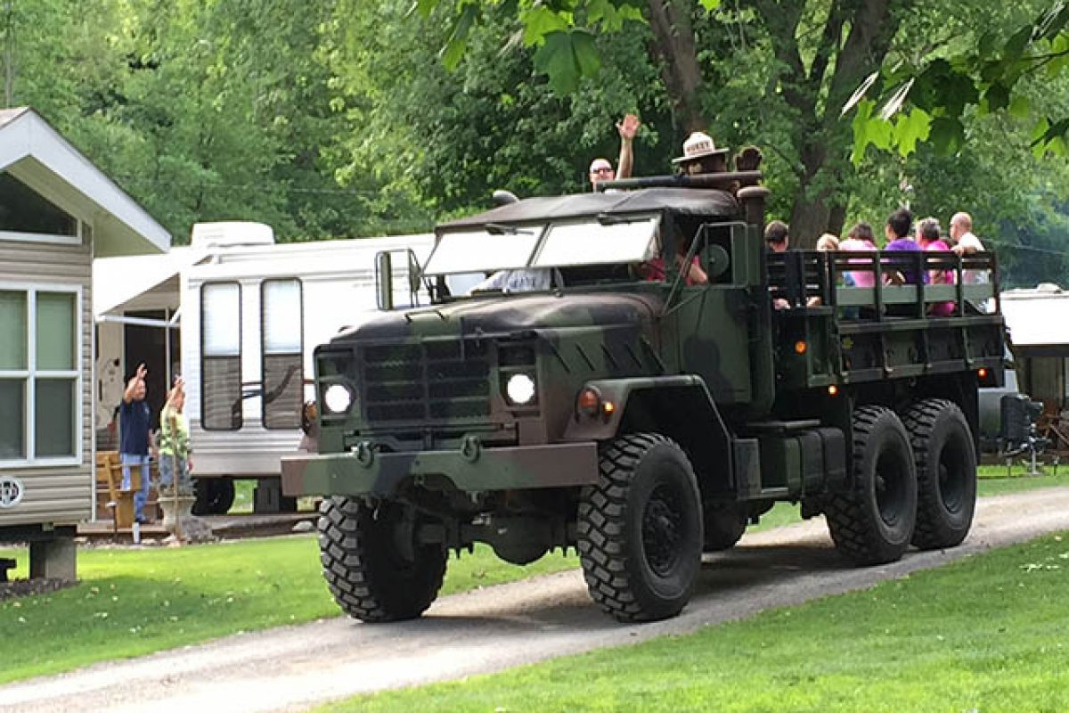 join stony fork camp for army rides during the camping season
