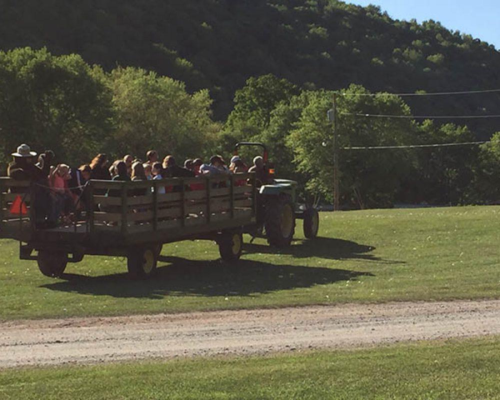 hayrides at stony fork camp