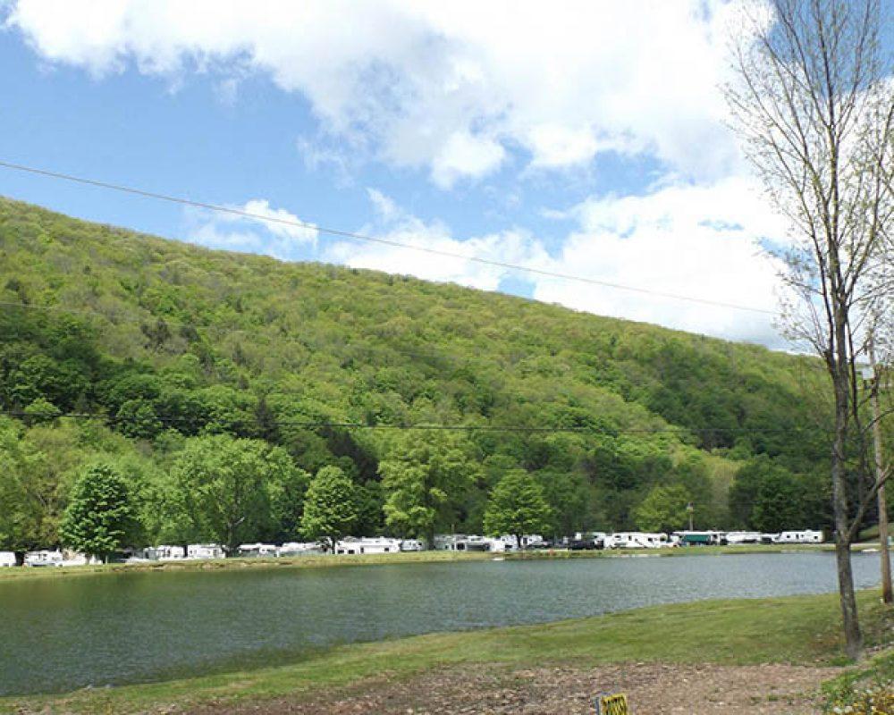 a river runs through stony fork camp