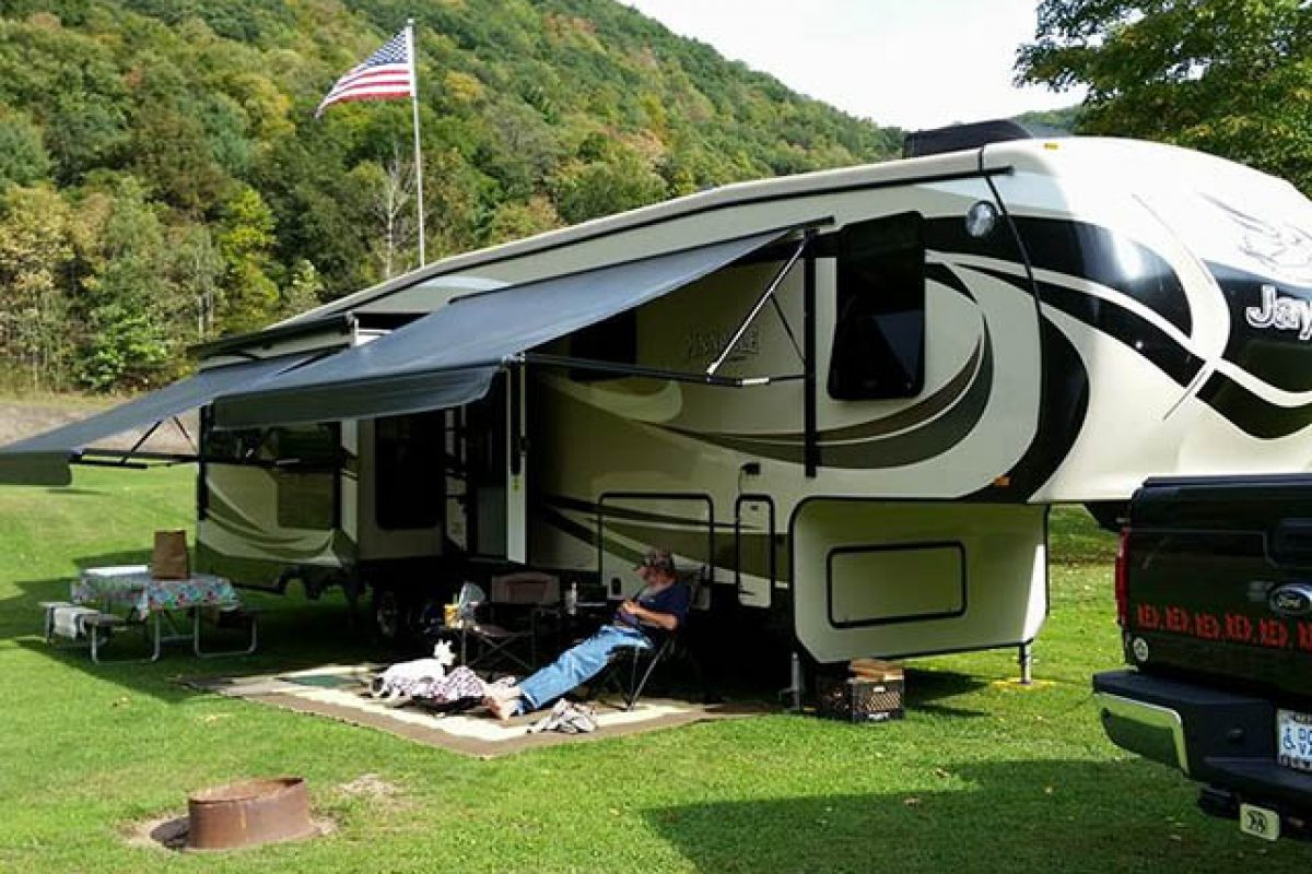 camping at stony fork camp in pa