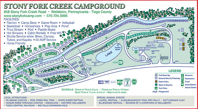 Sitemap Stony Fork Creek Campground - Grand canyon pa map